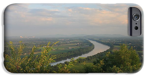 Franklin iPhone Cases - Connecticut River Valley in Summer from Mount Sugarloaf iPhone Case by John Burk