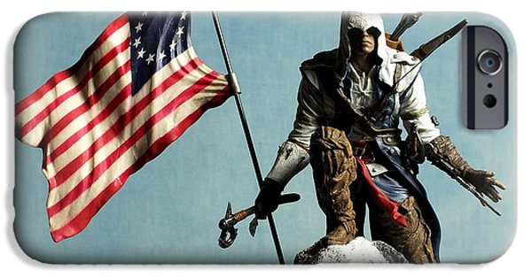 Boston iPhone Cases - Connor Kenway iPhone Case by Guy Pettingell