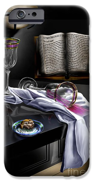Table Wine iPhone Cases - Consecrated iPhone Case by Reggie Duffie