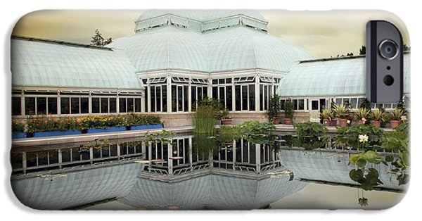 Buildings iPhone Cases - Conservatory Reflections iPhone Case by Jessica Jenney