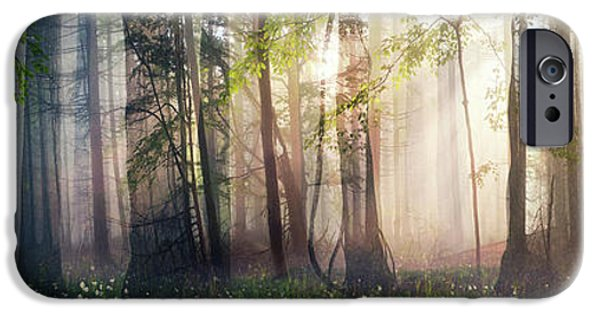 Sun Rays Digital Art iPhone Cases - Constancy iPhone Case by Cynthia Decker