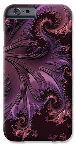 Floral Digital Art Digital Art iPhone Cases - Constructing Warmth iPhone Case by Susan Maxwell Schmidt