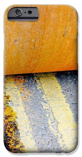 Recently Sold -  - Asphalt iPhone Cases - Construction 03 - HAMM Roller on Double Yellow Lines iPhone Case by Pete Edmunds