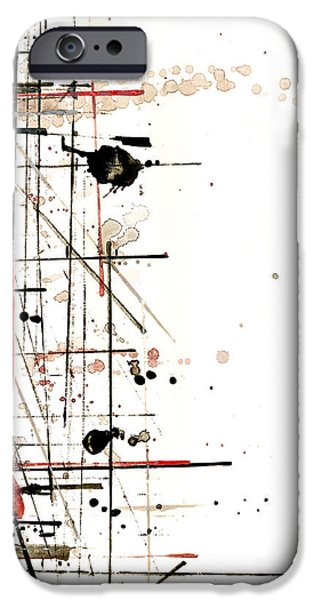 Paint Mixed Media iPhone Cases - Construction No. 1 iPhone Case by Nicholas Ely