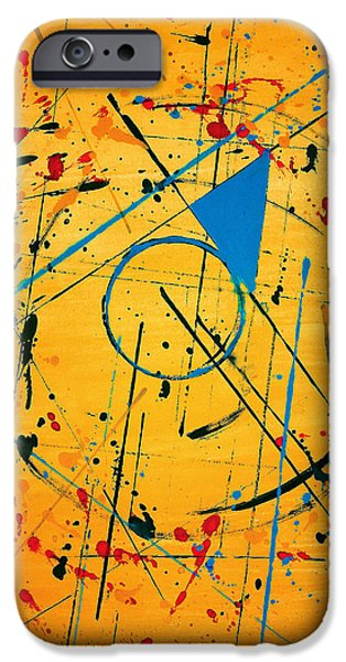 Abstractions iPhone Cases - Construction No. 2 iPhone Case by Nicholas Ely