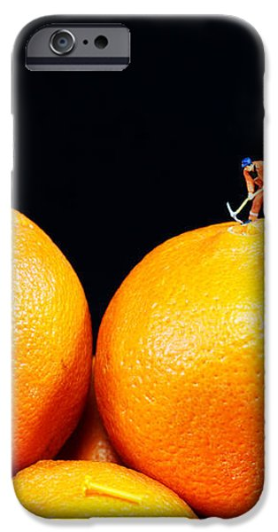 Construction on oranges iPhone Case by Paul Ge