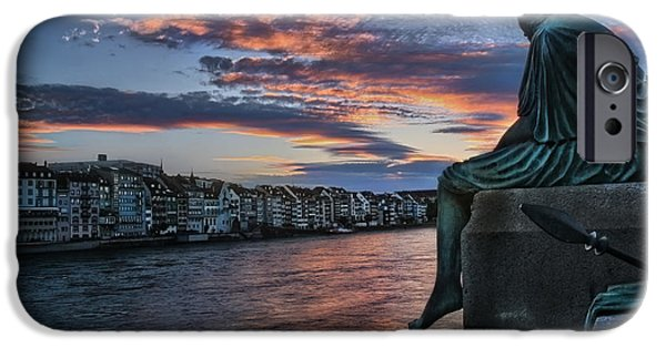 Drama iPhone Cases - Contemplating Life in Basel iPhone Case by Carol Japp