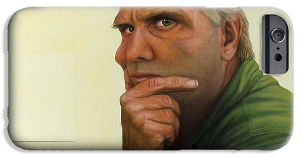 Contemplation iPhone Cases - Contemplating the blank page iPhone Case by James W Johnson