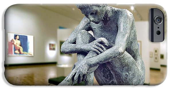 Thinking Sculptures iPhone Cases - Contemplation iPhone Case by Vya Artist