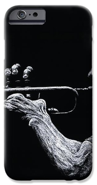 Contemporary Jazz Trumpeter iPhone Case by Richard Young