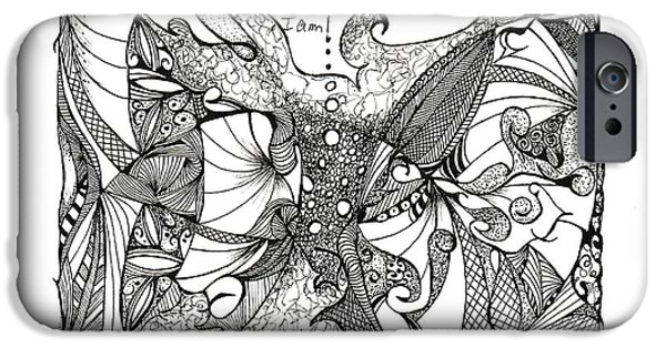 Abstract Forms iPhone Cases - Content iPhone Case by Ronda Breen