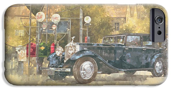 Gas Paintings iPhone Cases - Continental Phantom Two iPhone Case by Peter Miller