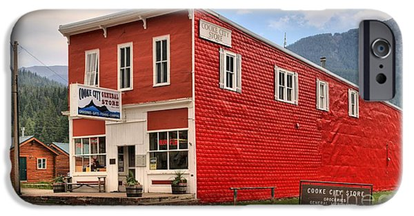 Historic Site iPhone Cases - Cooke City MT Store iPhone Case by Adam Jewell