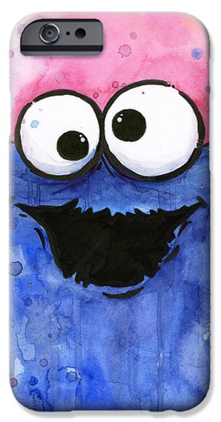 Cookie iPhone Cases - Cookie Monster iPhone Case by Olga Shvartsur