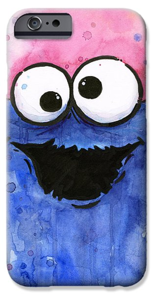 Street Mixed Media iPhone Cases - Cookie Monster iPhone Case by Olga Shvartsur