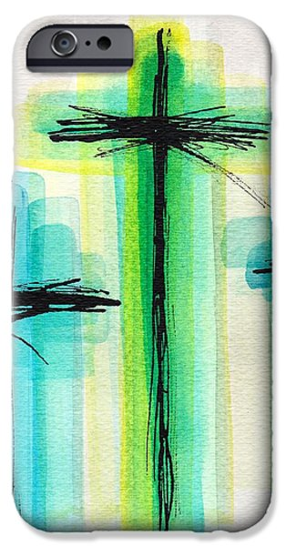 Pen And Ink iPhone Cases - Cool Crosses iPhone Case by Elizabeth Moersch