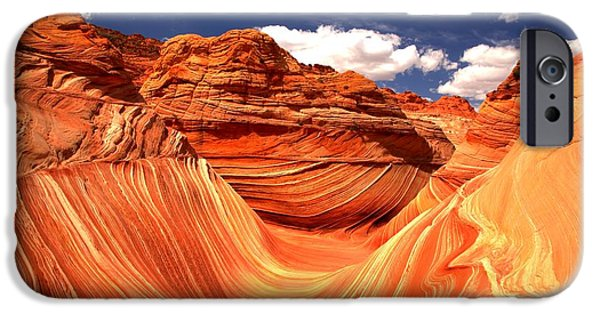 The Plateaus iPhone Cases - Cool Spring Day At The Wave iPhone Case by Adam Jewell