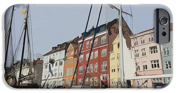 Denmark iPhone Cases - Copenhagen Memories iPhone Case by Linda Woods
