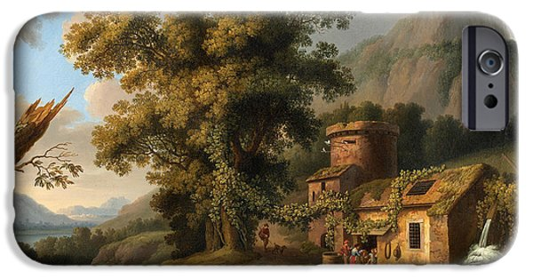Hammer Paintings iPhone Cases - Copper Hammer Vietri iPhone Case by Jacob Philipp Hackert