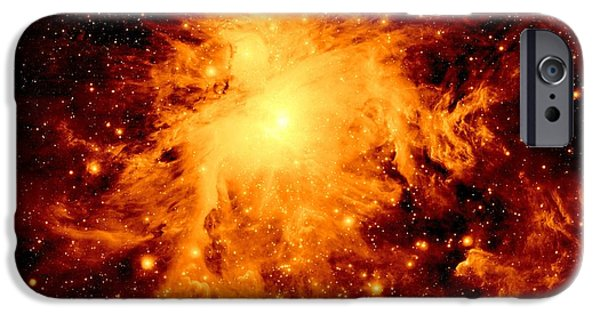 Stellar iPhone Cases - Copper Nebula iPhone Case by Johari Smith