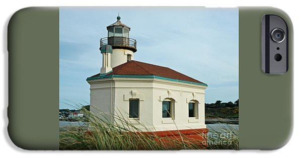Historic Site iPhone Cases - Coquille River Lighthouse iPhone Case by Nick  Boren