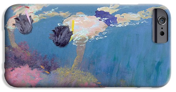 Exploring Paintings iPhone Cases - Coral II  iPhone Case by William Ireland