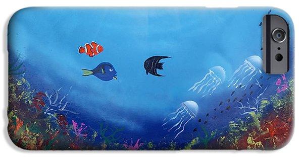 Alga Paintings iPhone Cases - Coral Reef iPhone Case by Ricardo Gonzalez