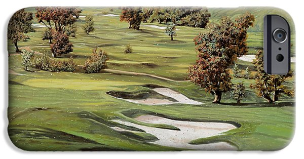 Tiger Woods iPhone Cases - Cordevalle golf course iPhone Case by Guido Borelli