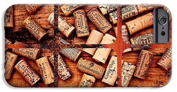 Wine Bottles iPhone Cases - Corks and Coasters iPhone Case by Clare Bevan