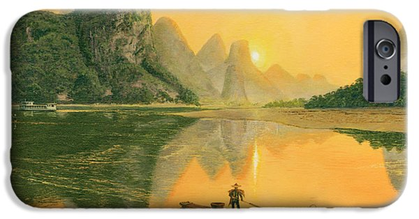 Richard iPhone Cases - Cormorant Fisherman, River Li, Guilin, iPhone Case by Richard Harpum