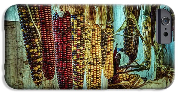 Texture iPhone Cases - Corn Hanging in the Barn iPhone Case by John Trax