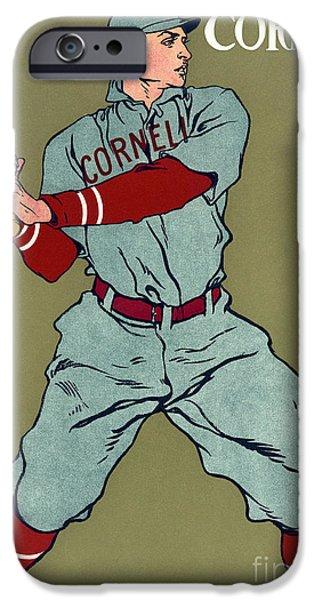 Baseball Uniform Paintings iPhone Cases - Cornell Baseball iPhone Case by Granger