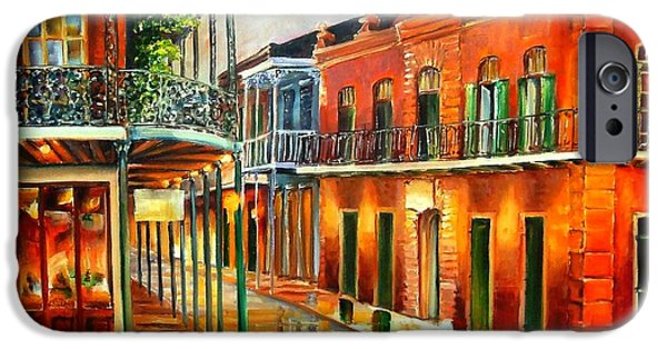 Big Easy iPhone Cases - Corner of Jackson Square iPhone Case by Diane Millsap