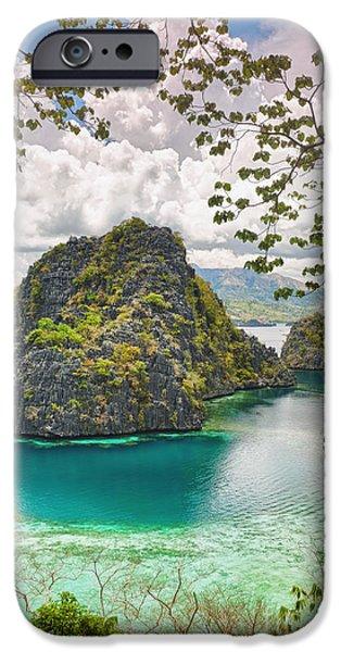 Island iPhone Cases - Coron lagoon iPhone Case by MotHaiBaPhoto Prints