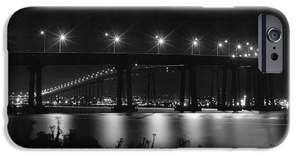 Bay Bridge iPhone Cases - Coronodo Bridge iPhone Case by Lawrence Fina