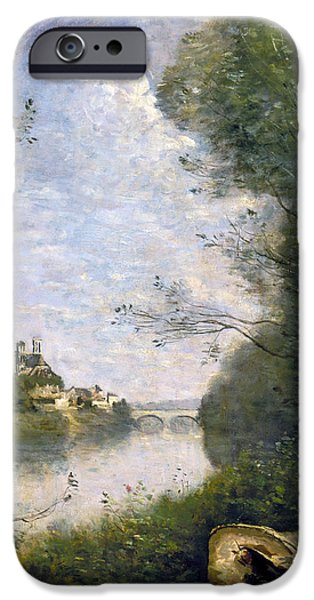 1850s iPhone Cases - COROT: CATHEDRAL, c1855-60 iPhone Case by Granger
