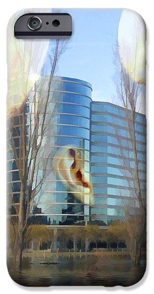 Oracle iPhone Cases - Corporate Cloning iPhone Case by Kurt Van Wagner