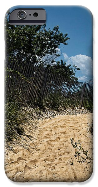 Pathway iPhone Cases - Corson Inlet trail iPhone Case by Tom Gari Gallery-Three-Photography