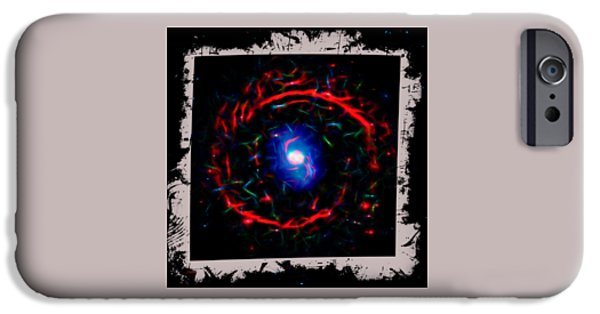 Abstract Digital Photographs iPhone Cases - Cosmic Eye 3 iPhone Case by John Bailey
