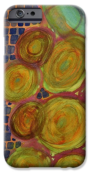 Disc iPhone Cases - Cosmic Movement in Time and Space iPhone Case by Heidi Capitaine