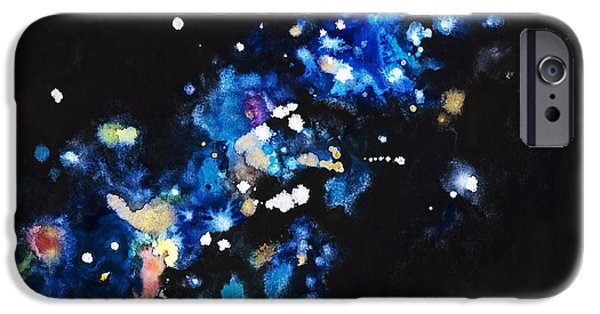 Cosmic Space Paintings iPhone Cases - Cosmic Sparks iPhone Case by Tara Thelen - Printscapes