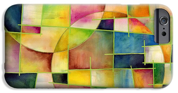 """""""geometric Abstract"""" iPhone Cases - Cosmopolitan 2 iPhone Case by Hailey E Herrera"""