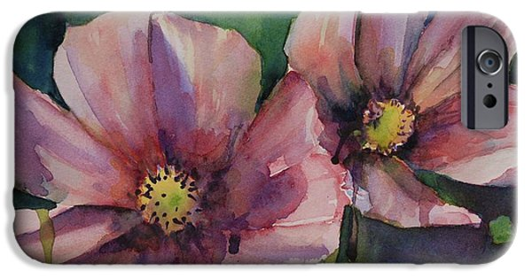 Cosmos Paintings iPhone Cases - Cosmos iPhone Case by Gretchen Bjornson