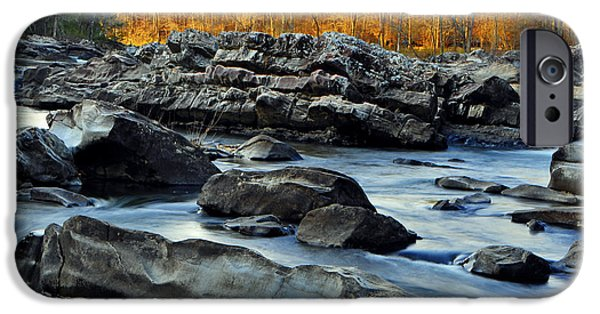 Arkansas iPhone Cases - Cossatot Falls SP iPhone Case by Matt Blaisdell