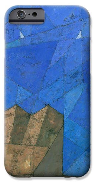 Abstract Seascape iPhone Cases - Cote d Azur I iPhone Case by Steve Mitchell