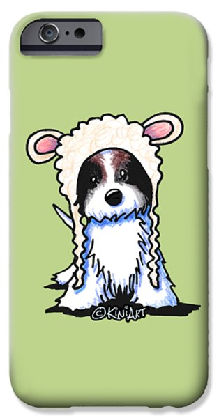Kim Drawings iPhone Cases - Coton de Tulear iPhone Case by Kim Niles