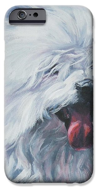 Coton Tulear iPhone Cases - Coton de Tulear iPhone Case by Lee Ann Shepard