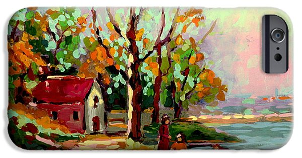Vista Of Big Sur iPhone Cases - Cottage Country The Eastern Townships A Romantic Summer Landscape iPhone Case by Carole Spandau