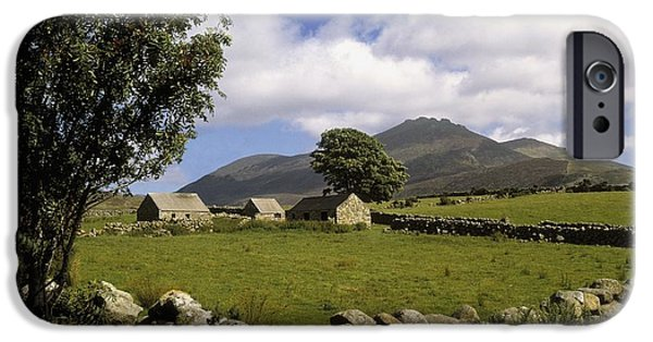 Mountain iPhone Cases - Cottages On A Farm Near The Mourne iPhone Case by The Irish Image Collection