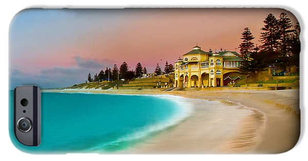 Panoramic Ocean iPhone Cases - Cottesloe Beach Sunset iPhone Case by Az Jackson